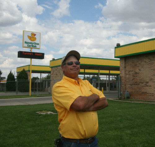 Owner Jeff in front of Western car wash